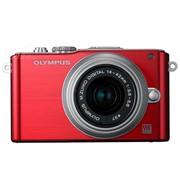 奥林巴斯 E-PL3 微单套机 红色(M.ZUIKO DIGITAL 14-42mm f/3.5-5.6 II R 镜头)