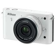 尼康 J1 微单套机 白色(10mm f/2.8 镜头)