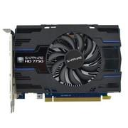 蓝宝石 HD7750 1G GDDR5 海外版OC 850/4800MHz 1GB/128bit GDDR5 PCI-E 显卡