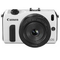 佳能 EOS M 微单套机 白色(18-55mm,22mm)产品图片主图