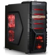鑫谷 雷诺塔G1超跃 中塔游戏机箱 (0.6mm钢板/U3/背线/免螺丝扣具/标配红光风扇/法拉利红背板)