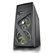 爱国者 伏魔者HU-1365 中塔游戏机箱 黑色(USB3.0/电源下置/背部走线/标配二个静音风扇)