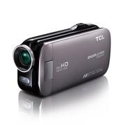 TCL D858FHD 全高清数码摄像机 钻石灰(500万像素 3英寸触摸屏 5倍光学变焦)