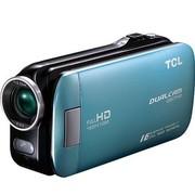 TCL D857FHD 全高清数码摄像机 孔雀绿(500万像素 3英寸触摸屏 80倍智能变焦)