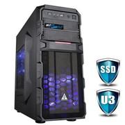 金河田 游戏联盟 狂战士6806B 机箱 (USB3.0/超多风扇位/可背线/电源下置/可双显卡)