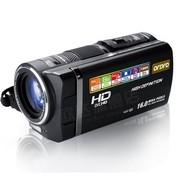 欧达 HDV-Q8 数码摄像机(1000万像素 10倍光学变焦 3.5英寸触控屏 拍摄可暂停)