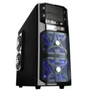 爱国者 雷霆战将HU-1366 中塔游戏机箱 黑色(USB3.0/电源下置/背部走线/标配三个静音风扇)