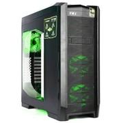 GAMEMAX 龙骑士 全塔机箱(热插拔/双U3/活性炭钢/长显卡/侧透/6个风扇/风扇调速器)绿色