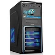 先马 奇迹3 中塔机箱(前置USB3.0/全黑化/铁网防尘/支持SSD)黑色