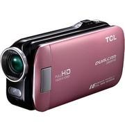 TCL D858FHD 全高清数码摄像机 公主粉(500万像素 3英寸触摸屏 5倍光学变焦 )