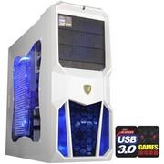 撒哈拉 走线大师GL6限量版 游戏机箱 (USB3.0/完美背线/支持SSD/侧透/标配2把LED大风扇)白色