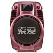 索爱 SA-T6 有源音箱 广场/插卡/电瓶/便携移动(红色)