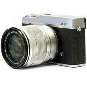 富士 X-E1 旁轴单电套机 银色机身/银色镜头(XC 16-50mm f/3.5-5.6 OIS 镜头)