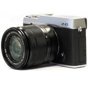 富士 X-E1 旁轴单电套机 银色机身/黑色镜头(XC 16-50mm f/3.5-5.6 OIS 镜头)