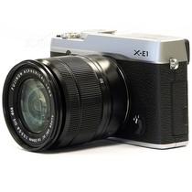 富士 X-E1 旁轴单电套机 银色机身/黑色镜头(XC 16-50mm f/3.5-5.6 OIS 镜头)产品图片主图