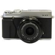 富士 X-E1 旁轴单电套机 银色机身/黑色镜头(XF 18mm F2.0 镜头)