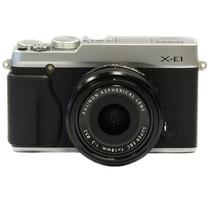 富士 X-E1 旁轴单电套机 银色机身/黑色镜头(XF 18mm F2.0 镜头)产品图片主图