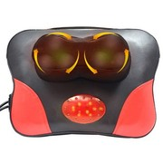 巴赛尔 小蝴蝶按摩枕 六轮3D按摩机芯 红外发光加热 推拿叩击 敲打更舒服