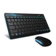 雷柏 X221 无线键鼠套装 蓝色