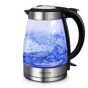 康雅 JK-108 玻璃电水壶 烧水壶 耐热玻璃电热水壶 进口温控器 黑色
