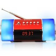 山水 E10 便携式音箱插卡小音箱迷你音响收音机mp3播放器外放低音炮 红色