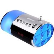 山水 E16 便携插卡音箱迷你音响带收音机MP3播放器外放 银色