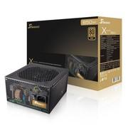 海韵 额定650W X-650 电源(80PLUS金牌/全模组/全日系电容/支持SLI/支持背线)