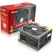 航嘉 jumper500 电源(额定500W/80plus白牌/主动PFC/全电压/智能温控/背部走线)