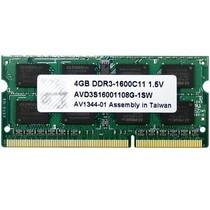 宇帷 笔电系列 DDR3 1600 8GB 笔记本内存(AVD3S16001108G-1SW)产品图片主图