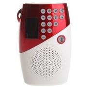 夏新 V8 便携式插卡音箱 收音机 迷你小音响 桌面音箱 老人晨练MP3播放器 可乐红