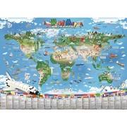 劲高 点读有声世界地图 普通话英语双语发音 点读了解世界