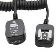 品色 FC-311/S(1.8M) 闪光灯离机连接线 佳能EOS相机专用