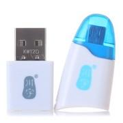 川宇 C310小鱼型 MicroB MicroSD读卡器 (蓝色)OTG三星手机外置读卡器