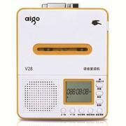 爱国者 语音复读机V28磁带机U盘TF卡录音机MP3转录英语学习 黄色