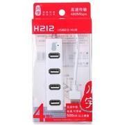 川宇 H212 排插式USB2.0HUB 高速集线器 白色