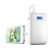 卡格尔(Cager) B05 移动电源充电宝白色10000毫安 LED双USB屏显-适合苹果iPad iPhone三星HTC小米等手机产品图片主图