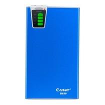 卡格尔(Cager) B030-6 超智能移动电源 金属 15000毫安 内置SD读卡器  双USB输出 超大容量 充电宝 蓝色产品图片主图