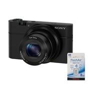 索尼 DSC-RX100 黑卡数码相机(WIFI卡套装)