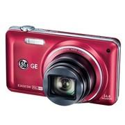 GE E1410SW 数码相机 红色(1440万像素 10倍光变 高感CMOS 28mm广角 1080P全高清)