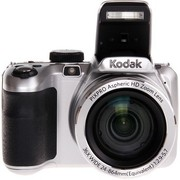 柯达 AZ361 数码相机 银色(1615万像素CCD传感器 3英寸屏 36倍光学变焦 24mm广角 高清摄像)