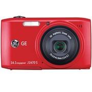 GE J1470S 数码相机 红色(1400万像素 28mm超广角 7倍光变 3.0英寸液晶屏 全能卡片机)