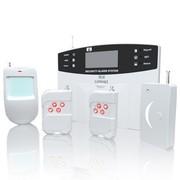 岡祈 HQ-12 LCD智能GSM报警器 电话卡防盗报警器 感应安防报警系统( 室内 语音 红外 无线防盗器)