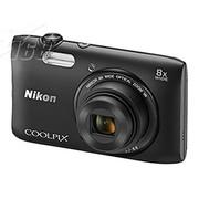 尼康 S3600 数码相机 黑色(2005万像素 2.7英寸液晶屏 8倍光学变焦)