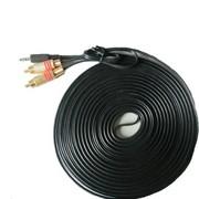 HNM 3.5一分二 3.5转双莲花 音频线 电脑接电视线 功放 功放接电脑线 5米