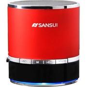 山水 E17蓝牙音箱带插卡收音机MP3播放器手机平板外放小音箱小音响 红色