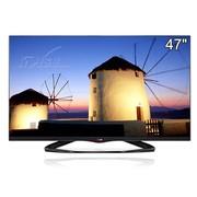 LG 47LA6600-CA 47英寸3D无边硬屏LED电视(黑色)