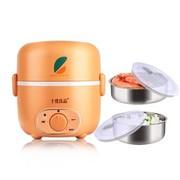十度良品 SD-969 电热饭盒 不锈钢内胆加热饭盒 定时蒸煮 橙色