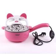 十度良品 SD-238不锈钢全能小电锅 学生电煮锅电煎锅电炒锅 粉红色