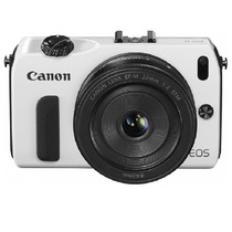 佳能 EOS M 微单套机 白色(EF-M 18-55mm f/3.5-5.6 IS STM 镜头)产品图片主图