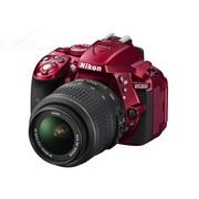 尼康 D5300 单反套机 红色(AF-S DX 18-55mm f/3.5-5.6G VR 镜头)